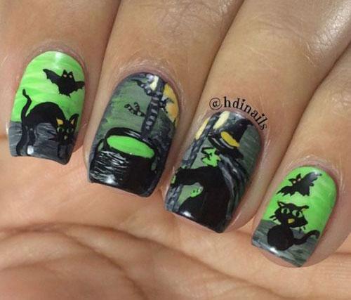 15-Halloween-Cat-Nails-Art-Designs-Ideas-2017-14