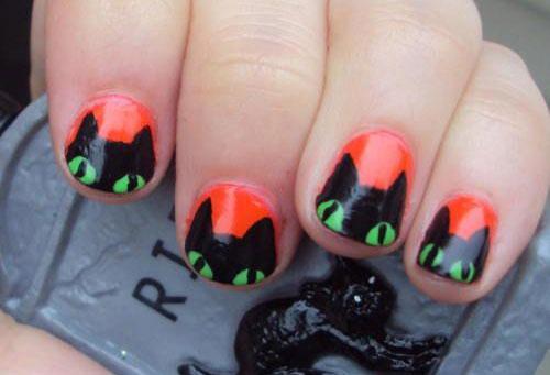 15-Halloween-Cat-Nails-Art-Designs-Ideas-2017-2