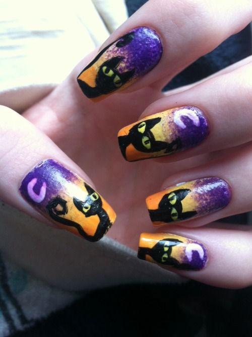 15-Halloween-Cat-Nails-Art-Designs-Ideas-2017-9