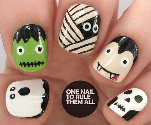 15-Halloween-Mummy-Nails-Art-Designs-Ideas-2017-13