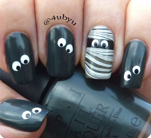 15-Halloween-Mummy-Nails-Art-Designs-Ideas-2017-3