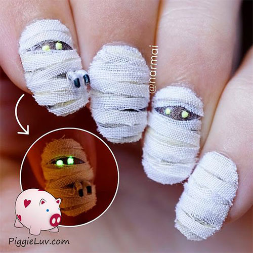 15-Halloween-Mummy-Nails-Art-Designs-Ideas-2017-7