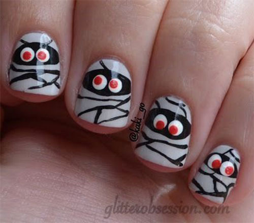 15-Halloween-Mummy-Nails-Art-Designs-Ideas-2017-9
