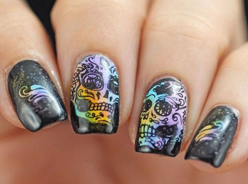 15-Halloween-Skull-Acrylic-Nails-Art-Designs-Ideas-2017-13