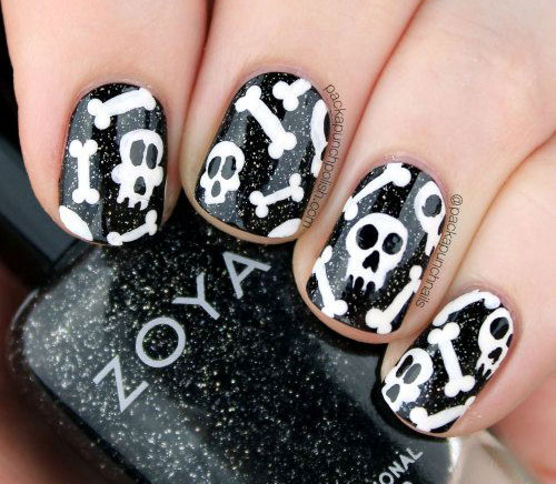 15-Halloween-Skull-Acrylic-Nails-Art-Designs-Ideas-2017-4