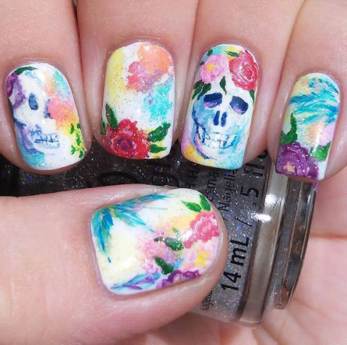 15-Halloween-Skull-Acrylic-Nails-Art-Designs-Ideas-2017-8