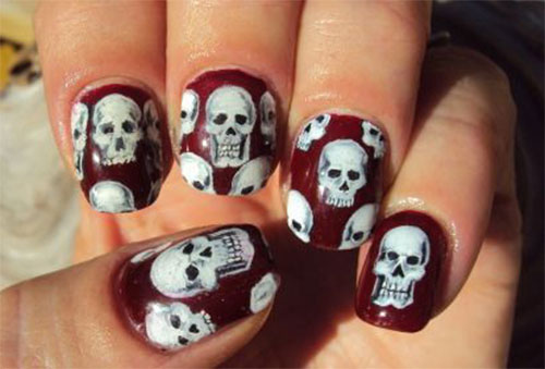 15-Halloween-Skull-Acrylic-Nails-Art-Designs-Ideas-2017-9