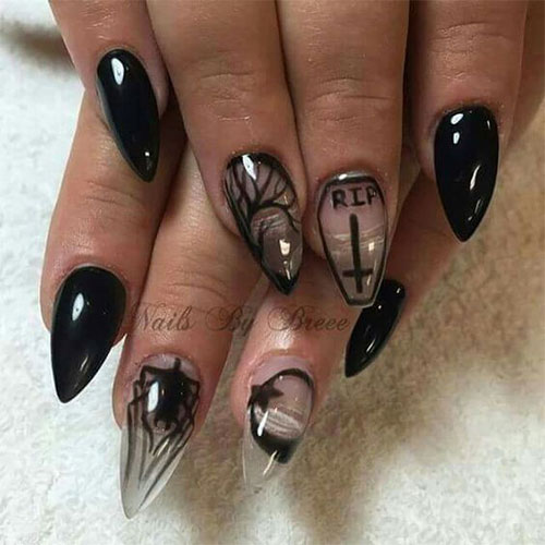15+ Halloween Witch Nails Art Designs & Ideas 2017 ...
