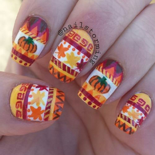 18-Easy-Halloween-Pumpkin-Nails-Art-Designs-Ideas-2017-10