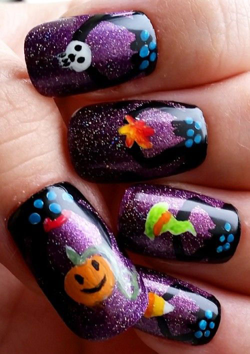 18-Easy-Halloween-Pumpkin-Nails-Art-Designs-Ideas-2017-13