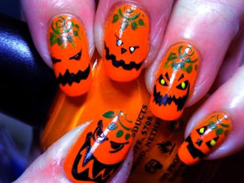 18-Easy-Halloween-Pumpkin-Nails-Art-Designs-Ideas-2017-5