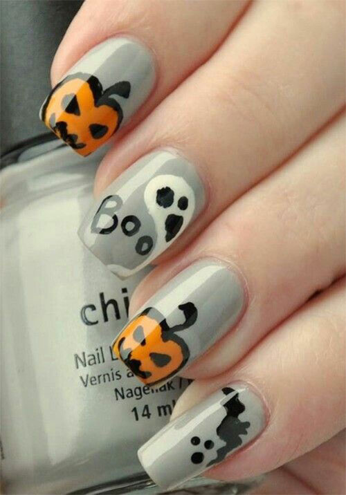 18-Easy-Halloween-Pumpkin-Nails-Art-Designs-Ideas-2017-6
