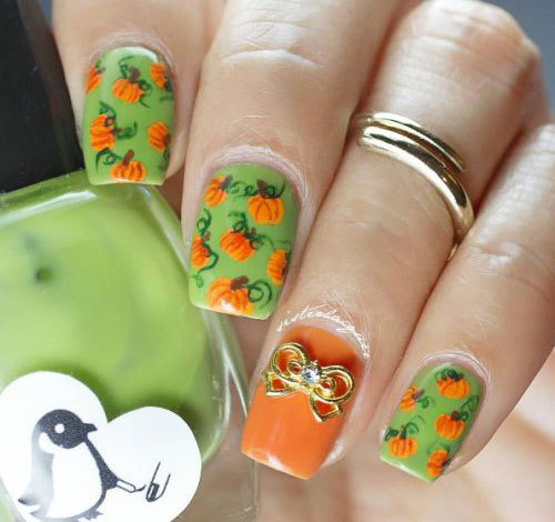 18-Easy-Halloween-Pumpkin-Nails-Art-Designs-Ideas-2017-7