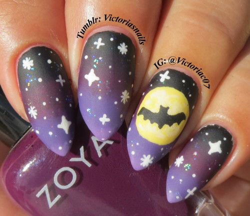 18-Halloween-Bat-Nails-Art-Designs-Ideas-2017-6
