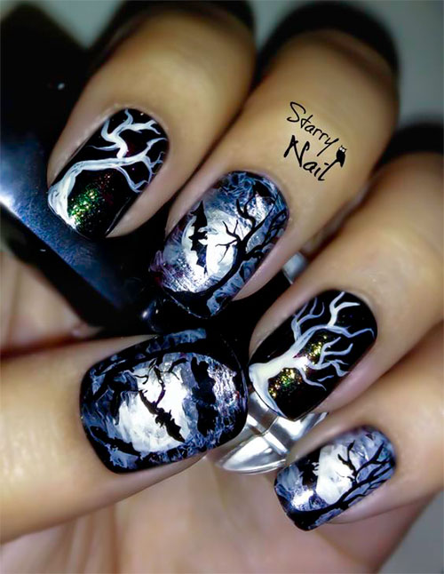 18-Halloween-Bat-Nails-Art-Designs-Ideas-2017-8