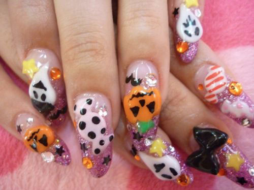18-Halloween-Ghost-Nails-Art-Designs-Ideas-2017-1