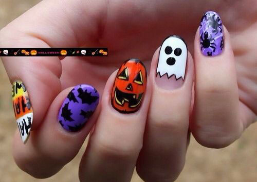 18-Halloween-Ghost-Nails-Art-Designs-Ideas-2017-17