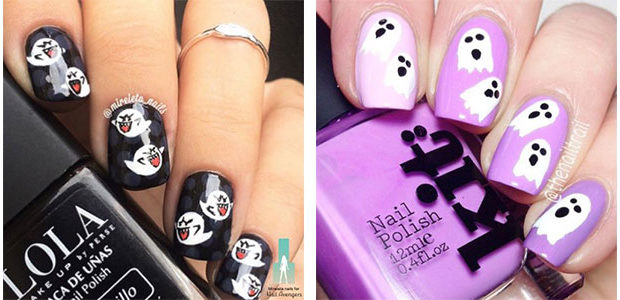 18+ Halloween Ghost Nails Art Designs & Ideas 2017