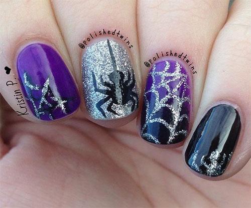 18+ Halloween Spider Nail Art Designs & Ideas 2017