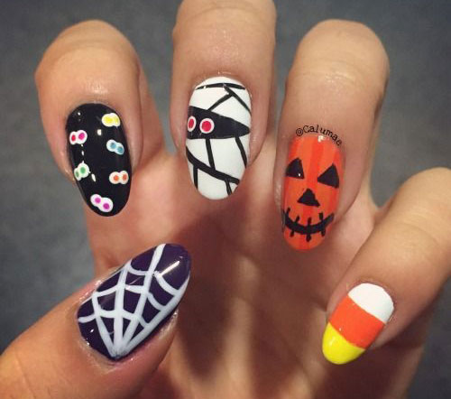 18-Halloween-Spider-Nail-Art-Designs-Ideas-2017- - 18+ Halloween Spider Nail Art Designs & Ideas 2017 Spider Web