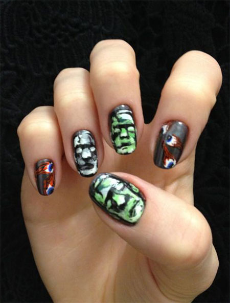 30+ Best Halloween Nails Art Designs & Ideas 2017