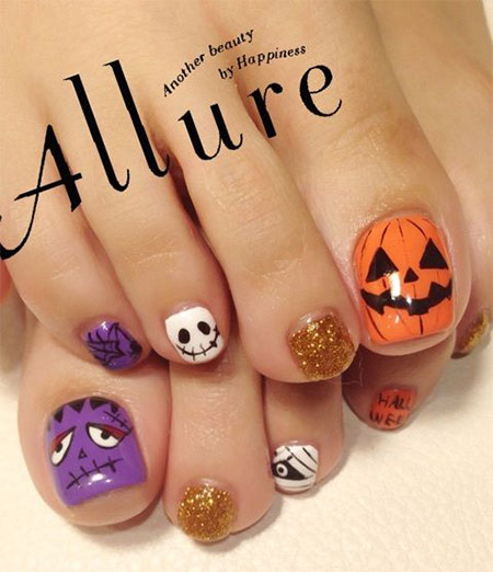 15-Halloween-Toe-Nails-Art-Designs-Ideas-2017-7