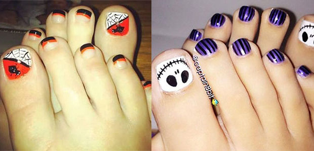 15+ Halloween Toe Nails Art Designs & Ideas 2017
