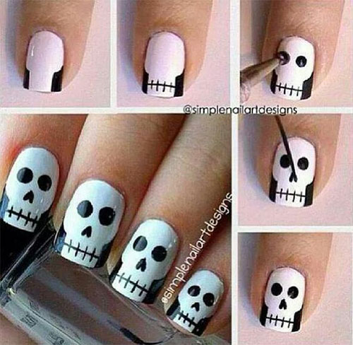 18-Easy-Step-By-Step-Halloween-Nails-Art-Tutorials-For-Beginners-2017-1