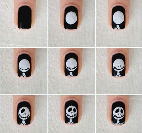18-Easy-Step-By-Step-Halloween-Nails-Art-Tutorials-For-Beginners-2017-4