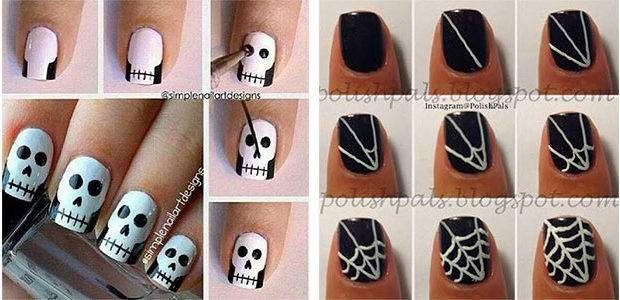 18 Easy Step By Step Halloween Nails Art Tutorials For Beginners 2017
