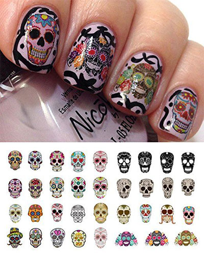 20-Halloween-Nails-Art-Stickers-Decals-2017-1