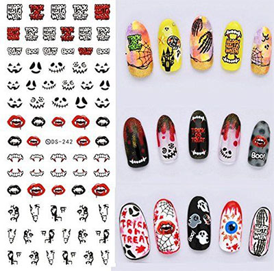 20-Halloween-Nails-Art-Stickers-Decals-2017-10