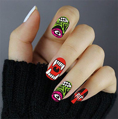 20-Halloween-Nails-Art-Stickers-Decals-2017-13