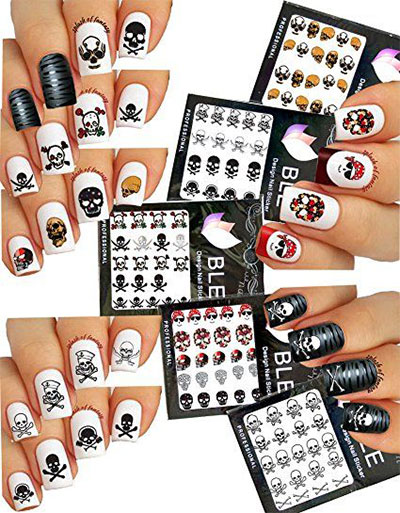 20-Halloween-Nails-Art-Stickers-Decals-2017-21