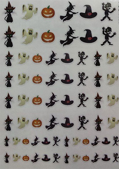 20-Halloween-Nails-Art-Stickers-Decals-2017-6