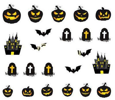 20-Halloween-Nails-Art-Stickers-Decals-2017-9