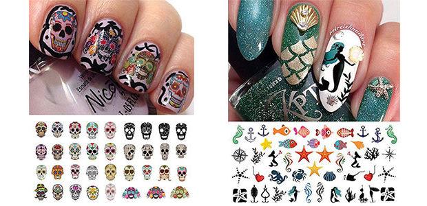 20+ Halloween Nails Art Stickers & Decals 2017