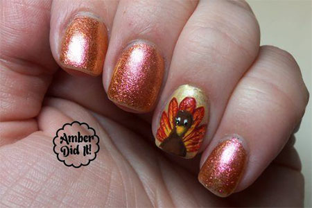 12 Turkey Nail Art Designs Ideas 2017 Thanksgiving Nails