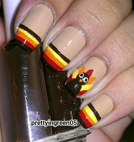 15 Easy Thanksgiving Nail Art Designs Ideas 2017 Fabulous Nail