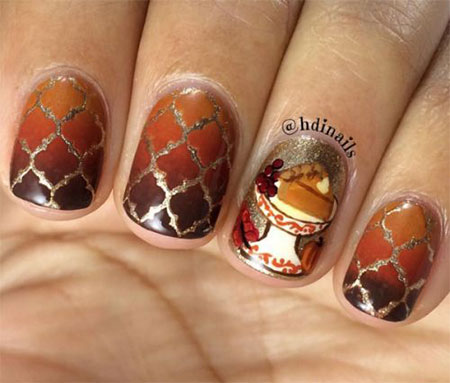 15-Easy-Thanksgiving-Nail-Art-Designs-Ideas-2017- - 15 Easy Thanksgiving Nail Art Designs & Ideas 2017 Fabulous Nail