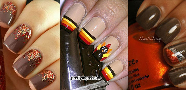 15 Easy Thanksgiving Nail Art Designs & Ideas 2017