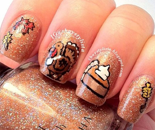 20-Happy-Thanksgiving-Nails-Art-Designs-Ideas-2017-6