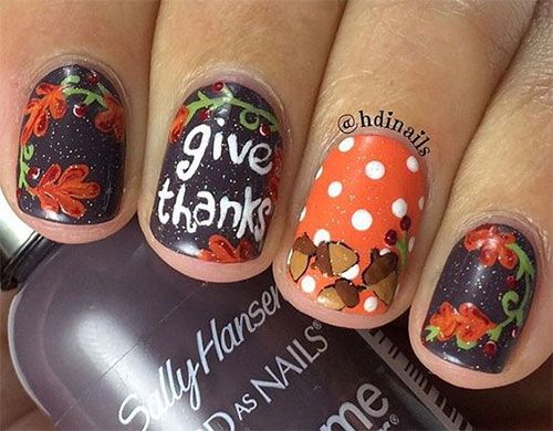 Nail Polish Designs For Thanksgiving To Bend Light