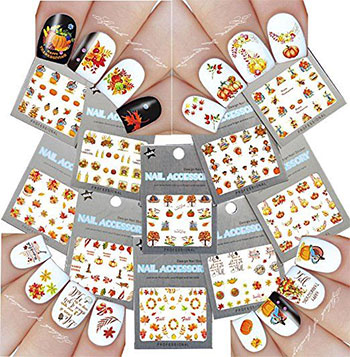 Cute-Cheap-Thanksgiving-Nail-Decals-Stickers-2017-1