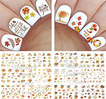 Cute-Cheap-Thanksgiving-Nail-Decals-Stickers-2017-2