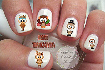 Cute-Cheap-Thanksgiving-Nail-Decals-Stickers-2017-7