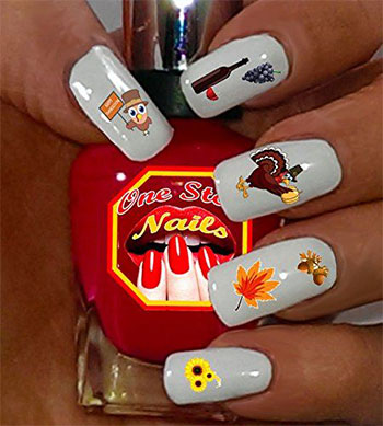 Cute-Cheap-Thanksgiving-Nail-Decals-Stickers-2017-8