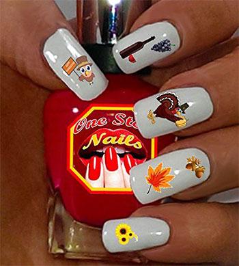Cute-Cheap-Thanksgiving-Nail-Decals-Stickers-2017-8