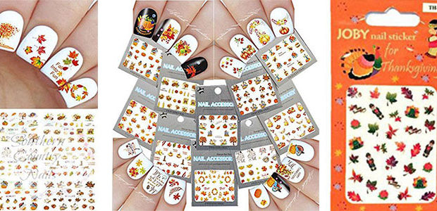 Cute & Cheap Thanksgiving Nail Decals & Stickers 2017