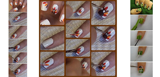 Easy & Simple Thanksgiving Nails Tutorials For Beginners 2017